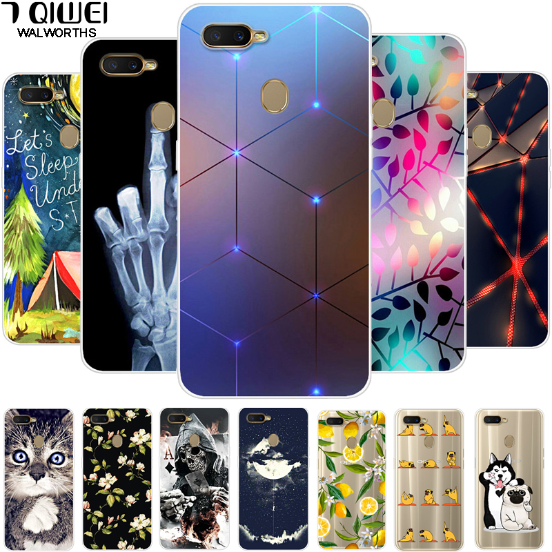 F For OPPO AX7 Case 6.2'' Silicone Soft Print Phone Case For OPPO A7 OPPOA7 CPH1901 Case TPU Clear For OPPO A5S A7 A 7 ax7 a x7