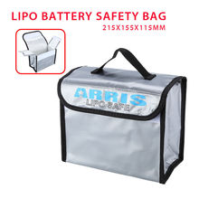 TOMLOV Anti-Explosion Lipo Battery Safe Bag For RC FPV Drone Storage Box Flame-retardant materials 215x155x115mm