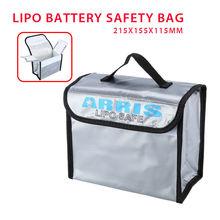 TOMLOV Anti-Explosion Lipo Battery Safe Bag For RC FPV Drone Storage Box Flame-retardant materials 215x155x115mm недорого