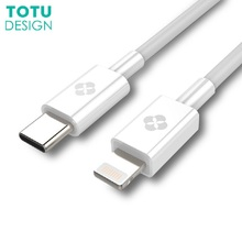 TOTU USB Type C to 8 Pin Phone Cable For Lightning iPhone X 8 7 6 6S Plus For Macbook To iPhone Fast Charging Charger OTG Cord