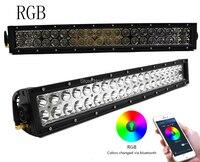 22นิ้ว120วัตต์RGBนำแสงบาร์สองแถวComboบี