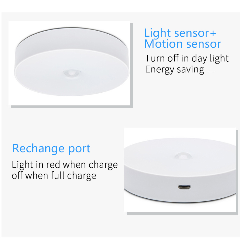 Image 4 - 6 LEDs PIR Motion Sensor Night Light Auto On/Off for Bedroom Stairs Cabinet Wardrobe Wireless USB Rechargeable Wall Lamp-in Night Lights from Lights & Lighting
