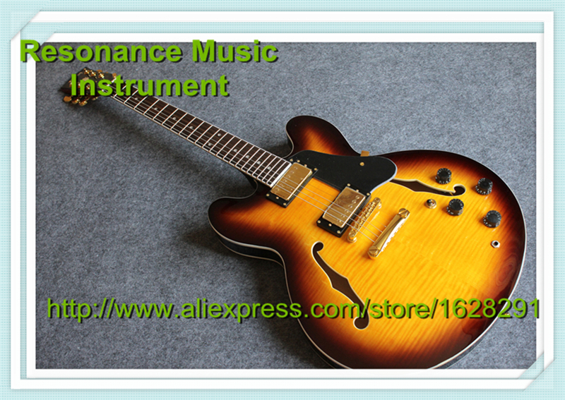 Custom Shop Vintage Sunburst ES335 Electric Guitar China Rosewood Fretboard