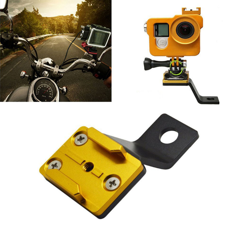 Aluminum Bracket Holder Motorcycle Rear View Mirror Alloy Stent Fixed For Go pro Hero 5 4 3 3+ for Xiaomi Yi 4K Action Camera motorcycle rearview mirror aluminum alloy stent fixed bracket holder for gopro hero 6 5 4 3 3 for xiaomi yi 4k camera