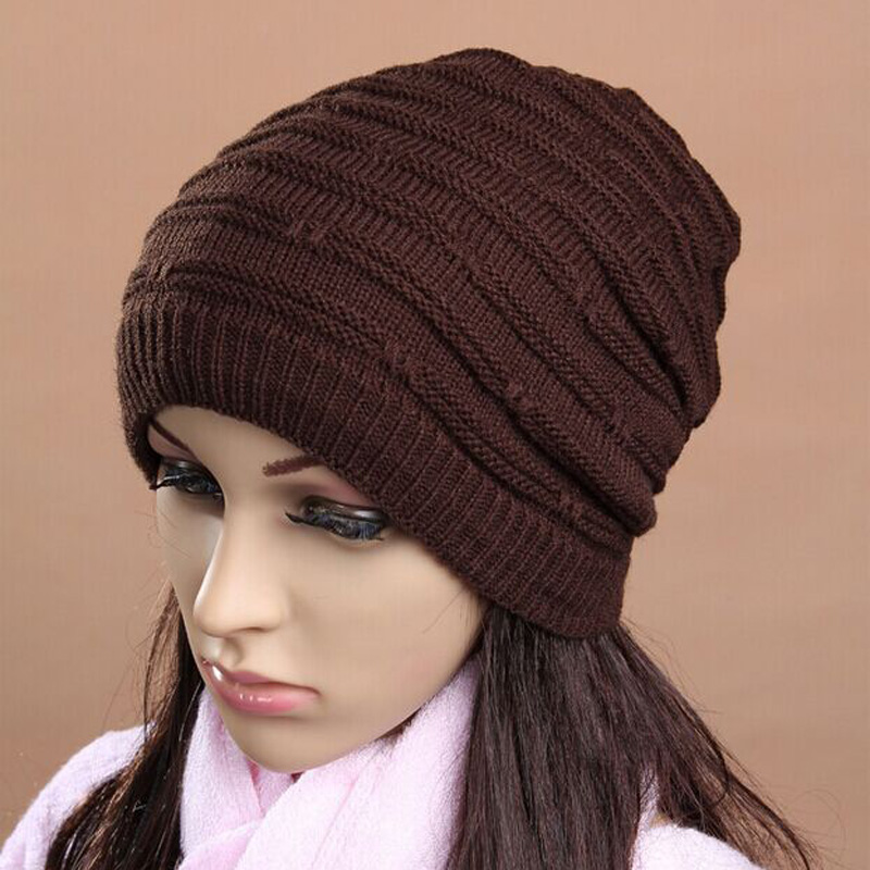 1 Pcs 2015 New 100% Acrylic Jacquard Stripe Knitted Cap Autumn Winter Warm Hats For Women And Men Skullies Beanies 3 Colors