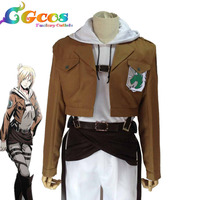 CGCOS Free Shipping Cosplay Costume Attack on Titan Shingeki no Kyojin Investigation Corps Annie Leonhart wings