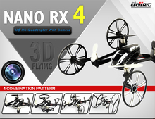 World premiere Remote Control Toys R C Nano RX4 4 Axis RC Quadcopter with 6 Axis