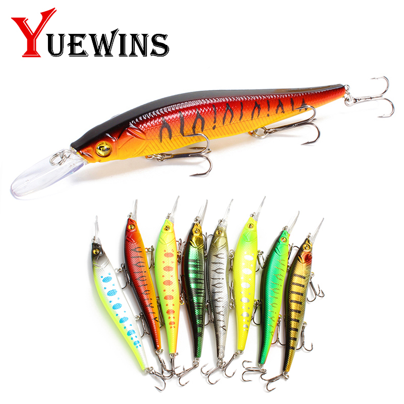 Yuewins Minnow Fishing Lure 13cm 15.6g Hard Wobbler Crankbait 3D Eyes Artificial Bait Trout Pike Carp Fishing Accessories Pesca