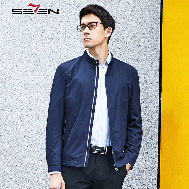 Seven7 Brand Bomber Jacket Men Windbreaker Formal Mens Jackets And Coats Male Casual Slim Fit Spring Autumn Clothes 113K20250-in Jackets from Men\'s ...