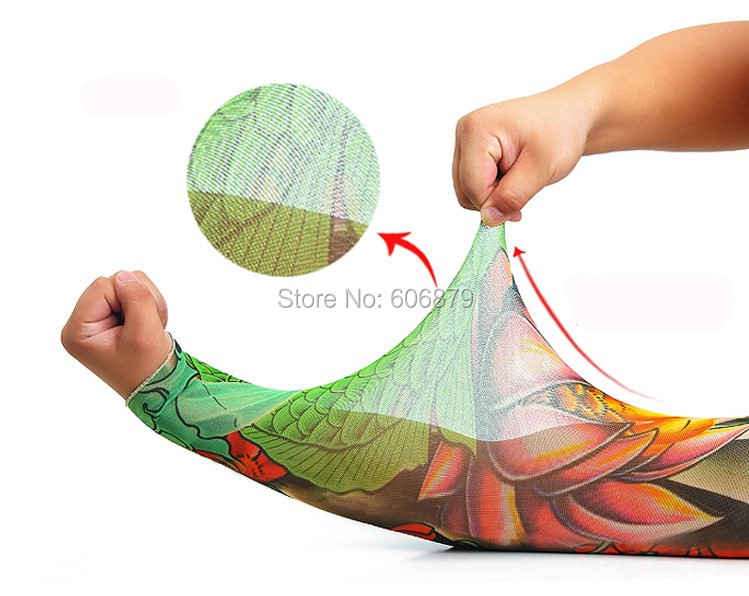 6720cbda3 USA Dispatc 124 Style Nylon Stretchy Fake Tattoo Sleeve Arms Fancy Dress  Costume 50pcs/Lot for beginner tattoo kits supply-in Tattoo accesories from  Beauty ...