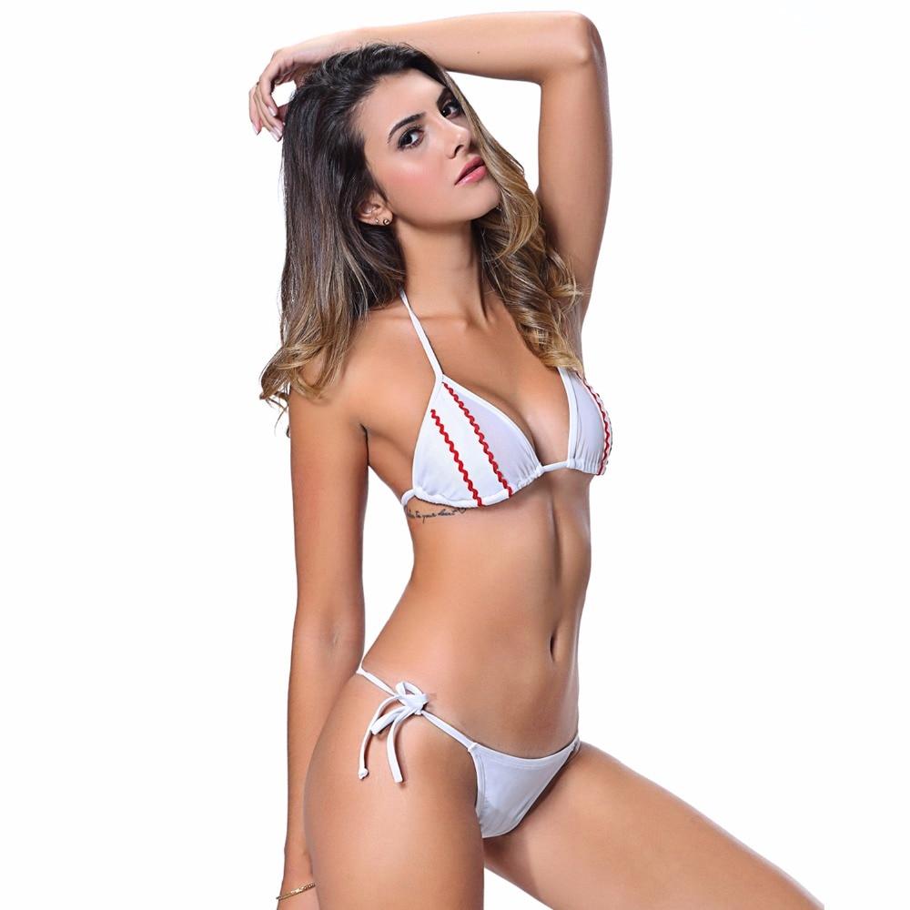 6aa77753b66e36 I Glam Bikini Lingerie Thong String Brazilian Swimwear Tiny Micro White Bottom  Sheer Top iGlam Beach Wear-in Bikinis Set from Sports & Entertainment on ...