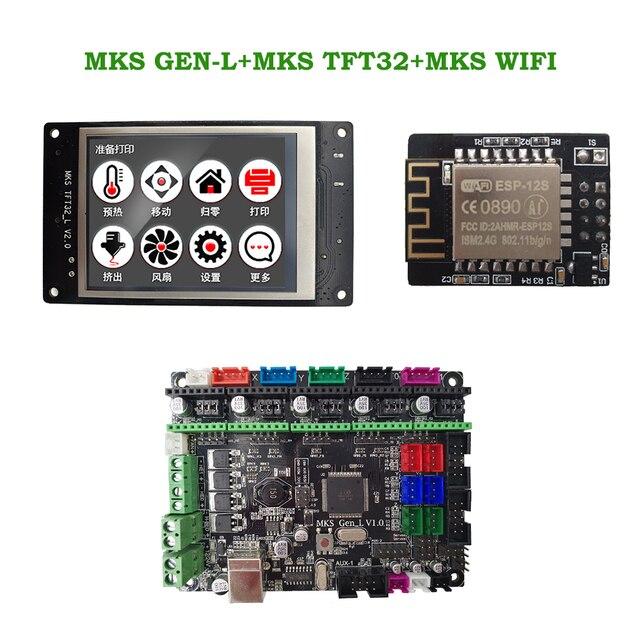 MKS GEN L + MKS TFT32 V4.0 LCD d'affichage toucher + MKS WIFI module pas cher 3D carte électronique kit openbuilds pour 3d imprimante démarreur