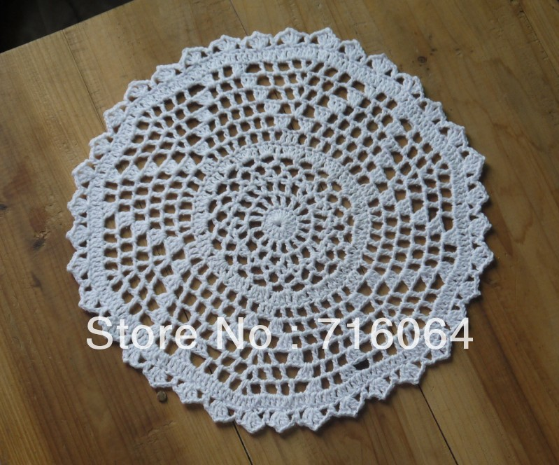 Handmade Crocheted Doilies Round Patterns Placemats Napkins Dial