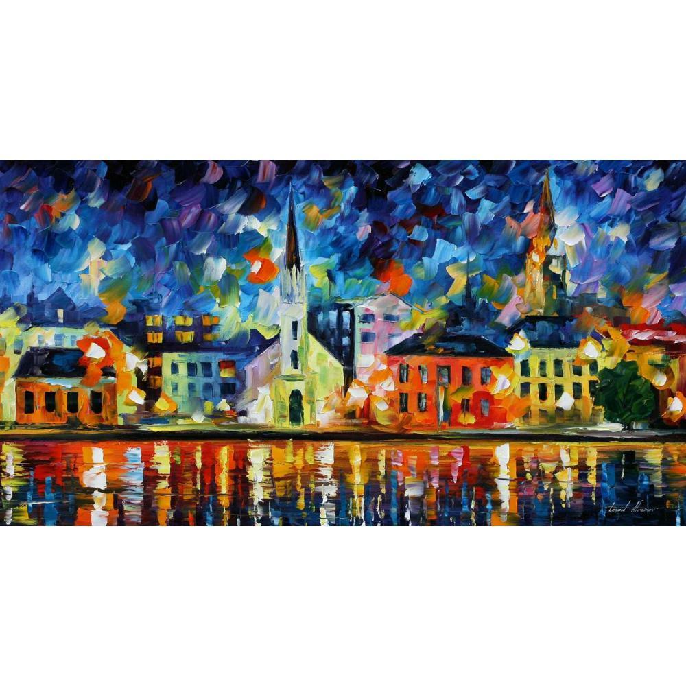 Art contemporain mémoire flammes couteau peinture à l'huile toile beau paysage photos pour décor mural