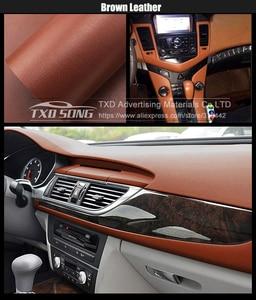Image 4 - Premium Leather Pattern PVC Adhesive Vinyl Film Stickers For Auto Car Body Internal Decoration Vinyl Wrap Car leather film