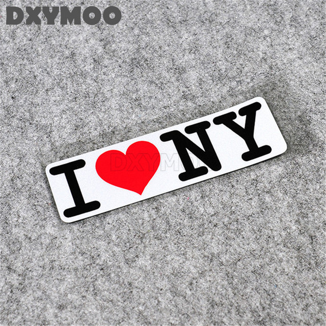 2pcs funny i love new york city car stickers auto window motorcycle helmet vinyl decals exterior