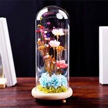 Диаметр = 10 см стеклянная купольная ваза из цельного дерева, основа для украшения дома, креативная стеклянная купольная ваза, подарок другу, свадебное украшение