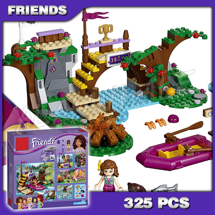 320pcs Bela 10493 Friends Series Adventure Camp Rafting Building Brick Blocks Model Olivia Andrea Toys girl Compatible with Lago image