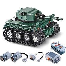 CADA RC Военный танк совместим с Legoing Technic модель строительные блоки Мальчик День рождения Рождественский подарок Дети дистанционное управление игрушки