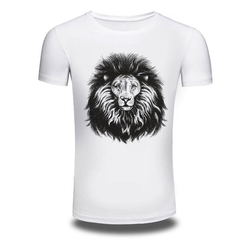 DY 119 Plus Size M 3XL 3D Lion Printed T font b shirts b font Personalized