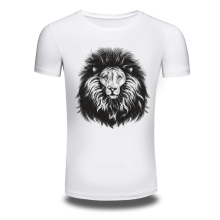DY-119 Plus Size M-3XL 3D Lion Printed T-shirts Personalized T-shirt Men's Cotton T Shirts Clothes Camisetas