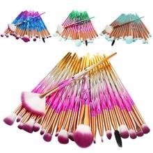 MAANGE 20 штук/комплект Pro 20 шт. набор кистей для макияжа с мягкой синтетической волосы и красивое Цвет для основания/ глаз Comestic инструменты