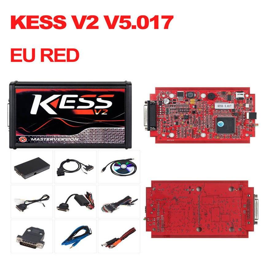 Neue Kess V2 V5.017 Rot PCB Online Version Keine Begrenzung Tokens K-Suite V2.47 OBD2 Manager Tuning Kit Auto lkw ECU Programmierer