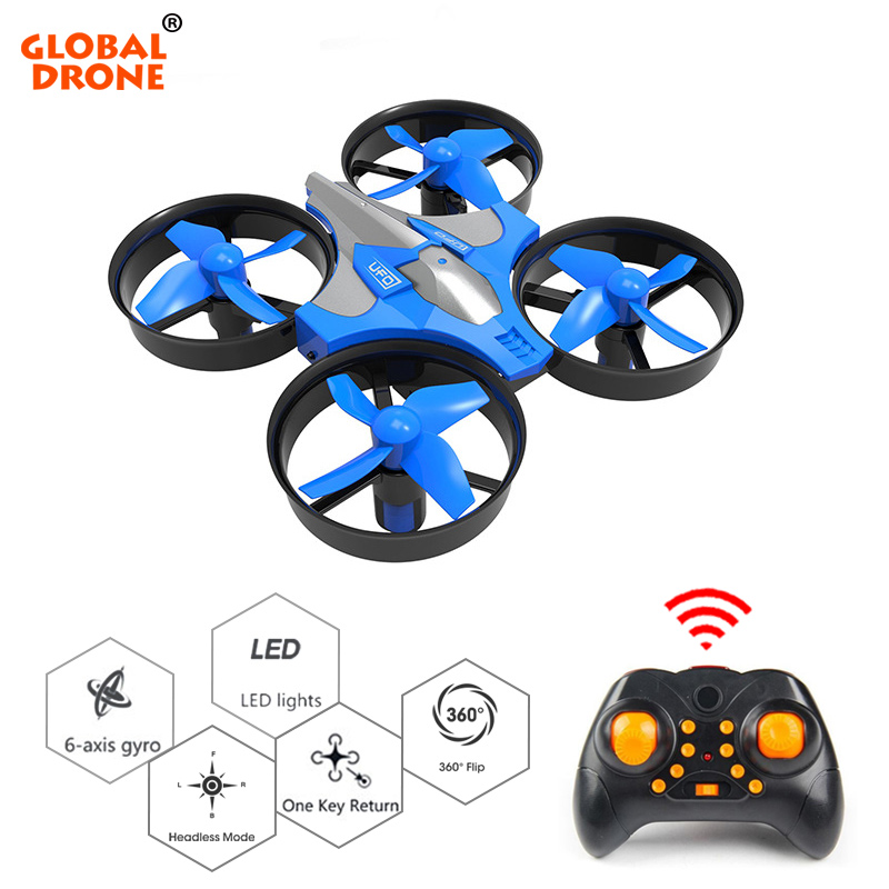 Global Drone Micro Drone One Key Return RC Helicopter 6-Axis Gyro Headless Mode Mini Drones Quadrocopter Toys For Children(China)