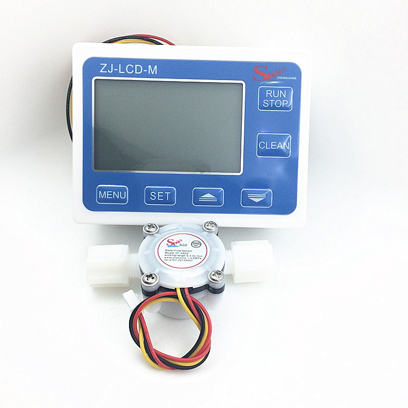 Flow meter water gauge flowmeter caudalimetro counter flow indicator sensor flow sensor with LCD flow meter 3-24V 0.3-6L/min original 95 97% new mass air flow sensor meter maf for mitsubishi montero sport eclipse 3 0 3 5 3 8 e5t08271 md336481
