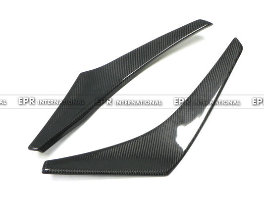 EPR Car Styling For Mitsubishi EVO 8 Carbon Fiber VRS Style Front Bumper Canard Glossy Fibre Finish Exterior Racing Bodykit Trim