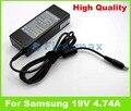 19 В 4.74A AC адаптер питания для Samsung, зарядное устройство R520, R522, R523, R525, R528. R530, R538, R540, R548, R560, R578, R58, R580, R581, R590.