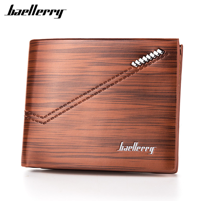 Baellerry Men Wallet Leather Vintage Purses High Quality Money Bag Credit Card holders New Dollar Bill Wallet wholesale price famous brand leather wallets men small casual vintage short purses male credit card holders hot sale creative design money bags