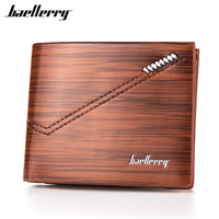 Baellerry Men Wallet Leather Vintage Purses High Quality Money Bag Credit Card holders New Dollar Bill Wallet wholesale price