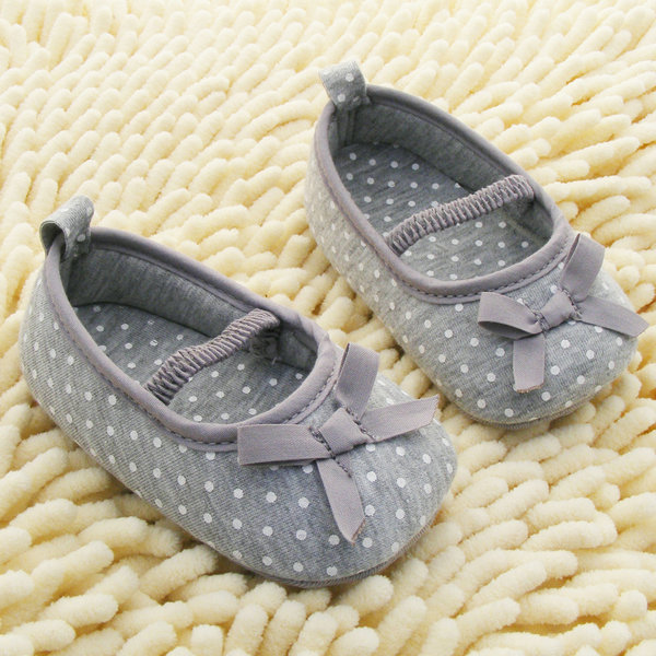 Mother & Kids Symbol Of The Brand New Baby Shoes Soft Bottom Antiskid Toddler Kids Polka Dot Bowknot Shoes P1