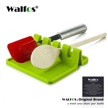 WALFOS מטבח אביזרי בישול כלים עמיד בחום סיליקון כף מצקת שאר תשמיש מחזיק ארגונית מתלה אחסון