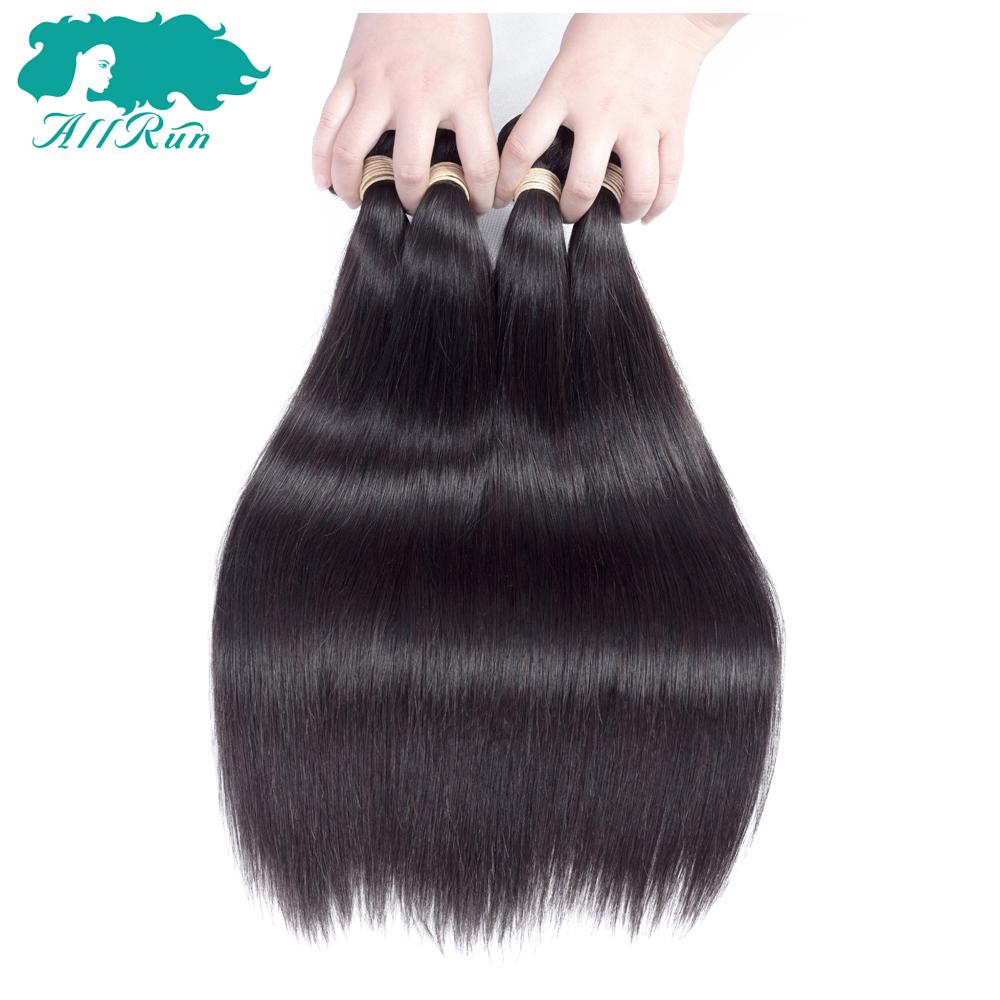 Allrun Pre-Colored Peruvian Straight Hair 3pcs/lot 100% Human Hair Weaves Bundles Shipping Free Soft Natural Color Peruvian Hair