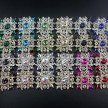 10 шт., 38x40 мм, античные винтажные Стразы, кнопки Lt Siam, темно-синий, черный, прозрачный AB кристалл, Центральные элементы, сделай сам, browband, свадьба
