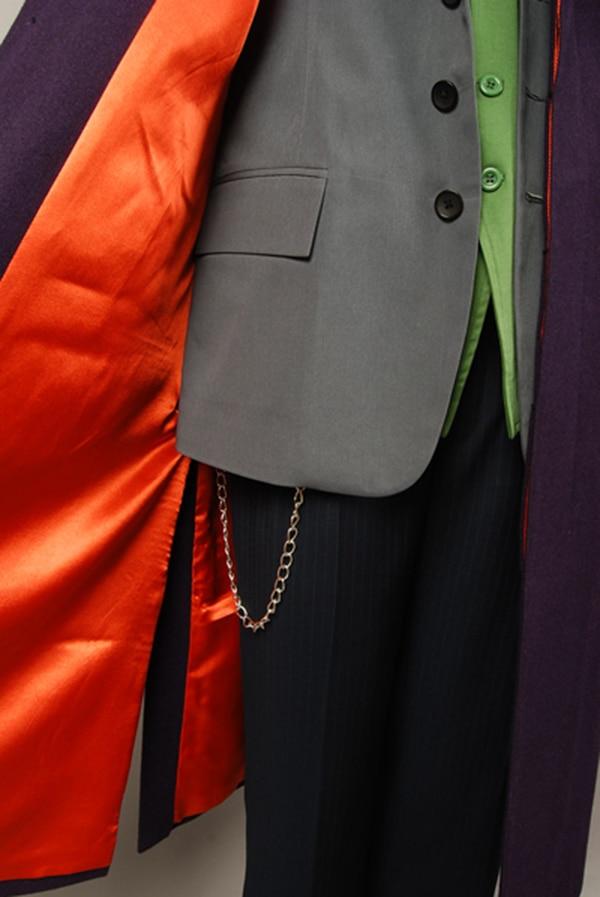 Batman Dark Knight Joker Paarse wol Trenchcoat voor volwassen mannen - Carnavalskostuums - Foto 4