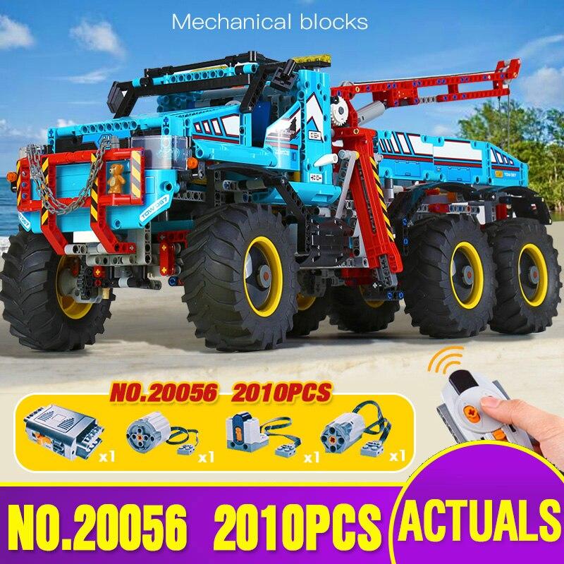 Série DHL 20056 Technic l'ultime tout Terrain 6X6 télécommande camion Set blocs de construction briques jouets modèle legoing 42070