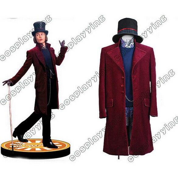 Charlie e la Fabbrica di Cioccolato Costume Cosplay Johnny Depp Willy Wonka Costume Cosplay Costumi di Halloween Per Gli Uomini Adulti