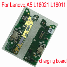 Original USB charging Plug Board MIC Flex Cable For Lenovo A5 L18021 L18011 Mobile