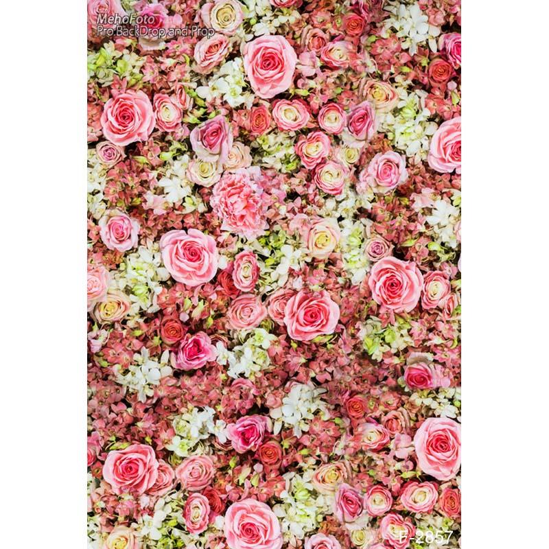 Photography backdrop Studio Senior Art Fabric Background pink floral Backdrops  F-2857