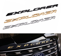 3D Metal Letters Chrome Car Auto Front Hood Chrome For Explorer 2012 2013 2014 2015 Ford