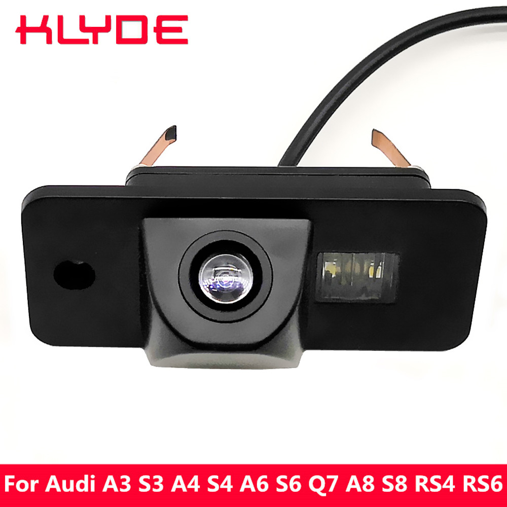 KLYDE Car HD Rear View Reverse Parking Assistance Camera 170 Degree Night Vision For Audi A3 S3 A4 S4 B6 A6 S6 Q7 A8 S8 RS4 RS6