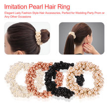 Fairy  Girl Hair Rope Scrunchy Ponytail Jewelry Hair Accessories Fashion Pearls Bead Elastic Rubber Hair Bands Elegant Hair ring цена 2017