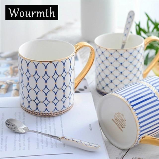 Wourmth Ceramics Cupugs Large Capacity Top Grade Porcelain Coffee Mugs Water Container Ceramic Tea