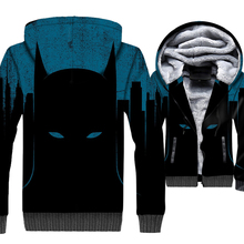 Super Hero Batman 3D Hoodies Sweatshirts 2019 Winter New Style Anime Hoodie Men Loose Fit Jackets For Adult Fashion Punk Coat