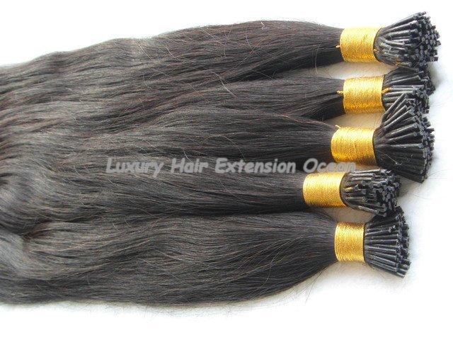 "18"", 20"" remy human hair, pre-bonded stick human hair extensions"