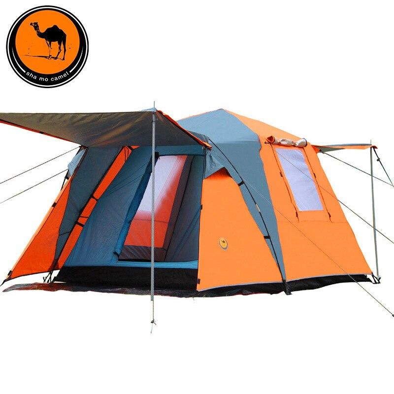 CM088 Automatic 3 4 Person Double Layer Waterproof Tourist Beach Camping Tent Barraca De Acampamento