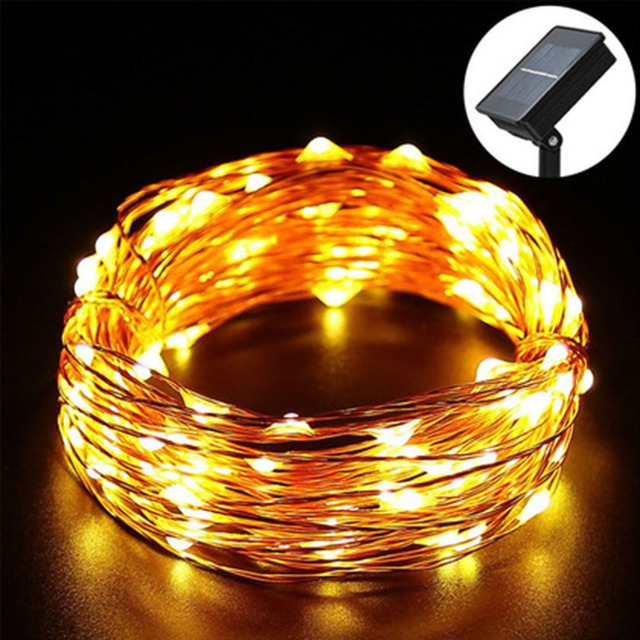 100 led copper wire solar fairy string lights waterproof outdoor 100 led copper wire solar fairy string lights waterproof outdoor lighting strings garden wedding holiday party workwithnaturefo